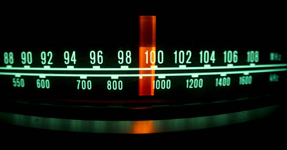 radio dial close up